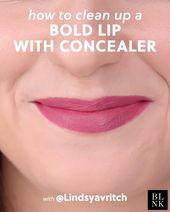So reinigen Sie eine kühne Lippe mit Concealer #makeuptutorial #makeuptips #makeuphac …