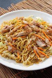 Chinapfanne simple avec nouilles et poulet   – vanilletörtchen
