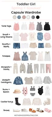 Toddler Woman Capsule Wardrobe: Spring and Summer time! A summer season wardrobe to your tod…