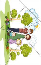 Ich und meine Familie Aktivitäten UK & Puk Puzzle Familie   – education Preschool