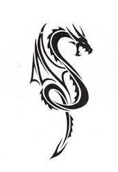 Afbeeldingsresultaat voor simple dragon tattoo designs –  #