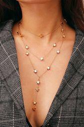 Little Stars Mehrschichtige Halskette – Lupsona #…