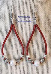 Pearls and Leather-based Beaded Earrings | Pearl Earrings | Bali Beads | Real Pearls | Boho Earrings | Pearl Jewellery