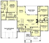 Traditional Style House Plan 51991 with 4 Bed, 2 Bath, 2 Car Garage   – My new house