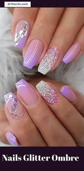 50 Pretty Nails Glitter Ombre Easy 2019 – #Easy #Glitter #nails #Ombre #pretty   – Nails