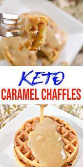 {Keto Chaffles} Receta sabrosa y fácil de chato keto bajo en carbohidratos. Caramelo rápido y delicioso …
