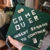 Coole weiße Abschlusskappe Ideen #diy #craft #graduationcap #graduation #highschool -