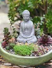 Beste Garten Zen Miniatur Wasser 39 Ideen   – Succulent Garden