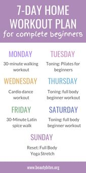 7-Day At Home Workout Plan For Complete Beginners – Beauty Bites