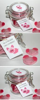 DIY selbstgemachte Geschenke aus dem Glas – Glücksschweine