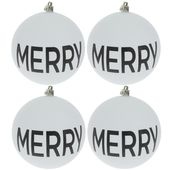 White Matte Merry Ornaments – Products