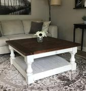 Rustic Baluster farmhouse Coffee Table provincial