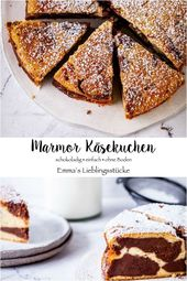 #SchokoKäsekuchen-Marmor Käsekuchen Rezept Schokolade Schoko Cheesecake backen…