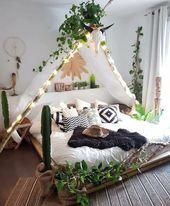 bedroomic auf Instagram: Wer sagt, dass Sie in Ihrem Schlafzimmer campen können? Hatten diese Woche tatsächlich Lust auf Glamping! . . . . Credits: Amanda Carew.tribe und @ … – Özlem – Dekoration – Home