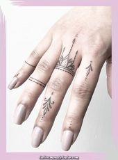 Legendary Winzige Fingertattoos für Mädchen; kleine Tattoos für Frauen; Rose Finger Tä … – Tattoos