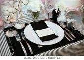# Luxuriöses # Abendessen #in Luxuriöses Abendessen in Schwarz und Weiß mit Na …   – Best Orchidee