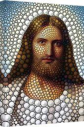 Leinwandbild Ben Heine »Circlism: Jesus Christus« in 2 Größen