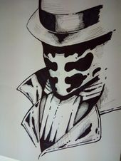 Drew Rorschach from DC comedian Watchmen. That comedian is a freaking marter piece nd …