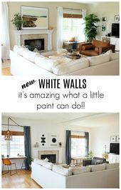 Details On My Family Room: Paint, Curtains, Art + More