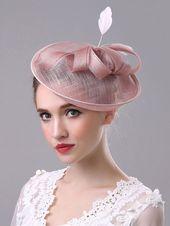 Royal Wedding Fascinator Hat Apricot Feather Vintage Bridal Headpieces