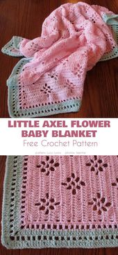 Baby Blanket Little Axel Flower Baby Blanket The little axel flower baby blanket is a wonderful example of the in