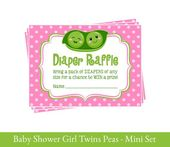 Printable Baby shower Twin girls two Peas in a pod – Pink and Green Twins baby shower – Baby Shower party decor – INVITATION NOT INCLUDED