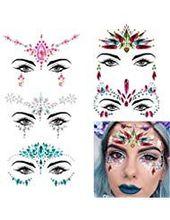 Gesicht edelsteine 5 stück frauen gesicht juwelen kristall gesicht glitter strass bindi tem…