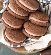 Dark Chocolate Peppermint Whoopie Pies – Maebells