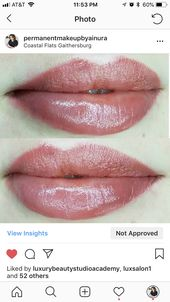 Permanent Makeup Lips Watercolor Technique Permanent Makeup