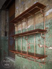 Copper Pipe Shelving unit in an Industrial / Urban / Vintage