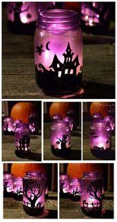 DIY halloween:  lumineuse pour l'halloween.