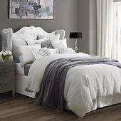 HiEnd Accents Wilshire Light Grey Super Queen Comforter Set #greybedrooms
