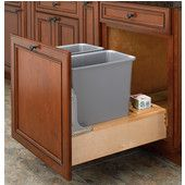 Pull Out Built In Trash Cans Cabinet Slide Out Under Sink
