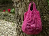 Knitted shopping bag