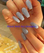 20 einfache schwarze Nail Art Design-Ideen #nailartideas #blacknails