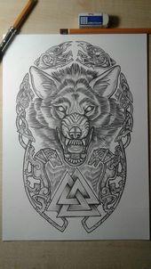 Der Wolf das ewig gefährliche Tier … vom Menschen gezähmt und nach den U – Zeichnungen traurig – #Tier #gefährlich #auf ewig #man #tamed