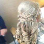 blow dry barrel curls hair with side braid - Google Search