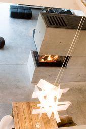 Solch ein schöner und stilvoller BRUNNER Panoramakamin in Betonoptik kann nur …   – Moderne Kamine | Brunner