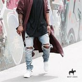 West Louis ™ Distressed Denim Streetwear Jeans – Men Fashion