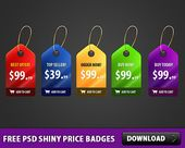 Nice 5 Free PSD Shiny Price Badges. Download this very high quality 5 Free PSD S…