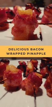 Spicy Bacon Wrapped Pineapple –