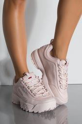 FILA Faux leather material Flat rubber