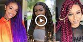 2019 Geflochtene Frisuren für schwarze Frauen - #black #braided #hairstyles #women - # ... - Frisur Black Kids #Braided Frisu