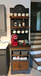 30+ Best Home Coffee Bar Ideen für alle Kaffeeliebhaber
