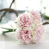 1 Blumenstrauß / 5pcs, die künstliche Hydrangea-Blumen-Ausgangsparty-Blumendekoration-Rosa-Grün Wedding sind   – Silk Flower Arrangements