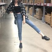Black Singlet + High Waisted Jeans + Black / White Flannel + Black Loafers – # Genel