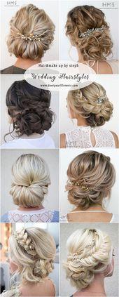 Hairandmakeupbysteph Hochzeit Hochsteckfrisuren #weddingideas #frisur #mode – #F …   – beauty