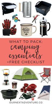 Liste de contrôle: les éléments essentiels d'un voyage de camping en famille   – Fazendo as Malas