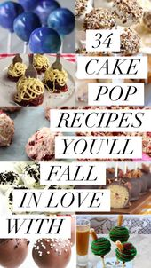 34 Cake Pop Recipes You'll Fall In Love With   – Baby shower