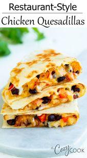 #ad Diese knusprigen Hähnchen-Quesadillas im Restaurantstil sind mit saftigem Ch …   – #Best FOOD Bloggers